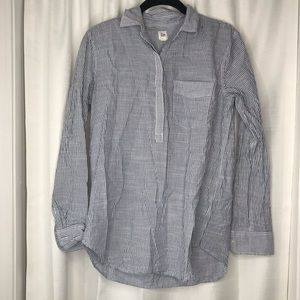 GAP Blue and White Striped Long Sleeve Top